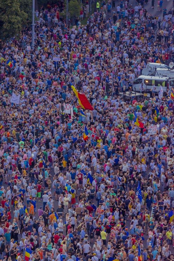 犹太人散居地抗议在反对政府的布加勒斯特 库存图片