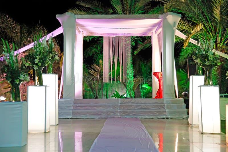 犹太人的婚礼仪式机盖(chuppah或huppah) 免版税库存照片