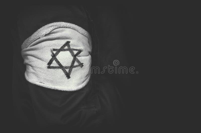 犹太人的种族灭绝的概念 图库摄影