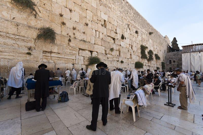 犹太寺庙的西部墙壁,耶路撒冷,以色列 库存图片
