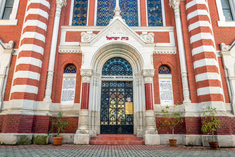 犹太教堂在布拉索夫,特兰西瓦尼亚,罗马尼亚 库存照片