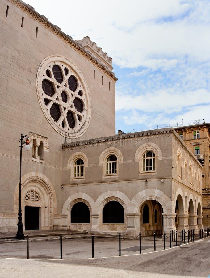 犹太教堂在的里雅斯特 图库摄影