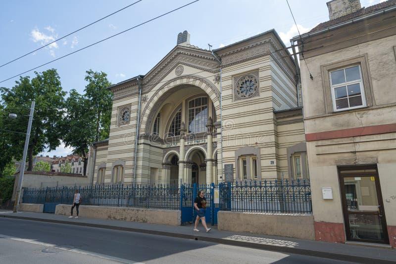 犹太教堂在维尔纽斯 库存照片