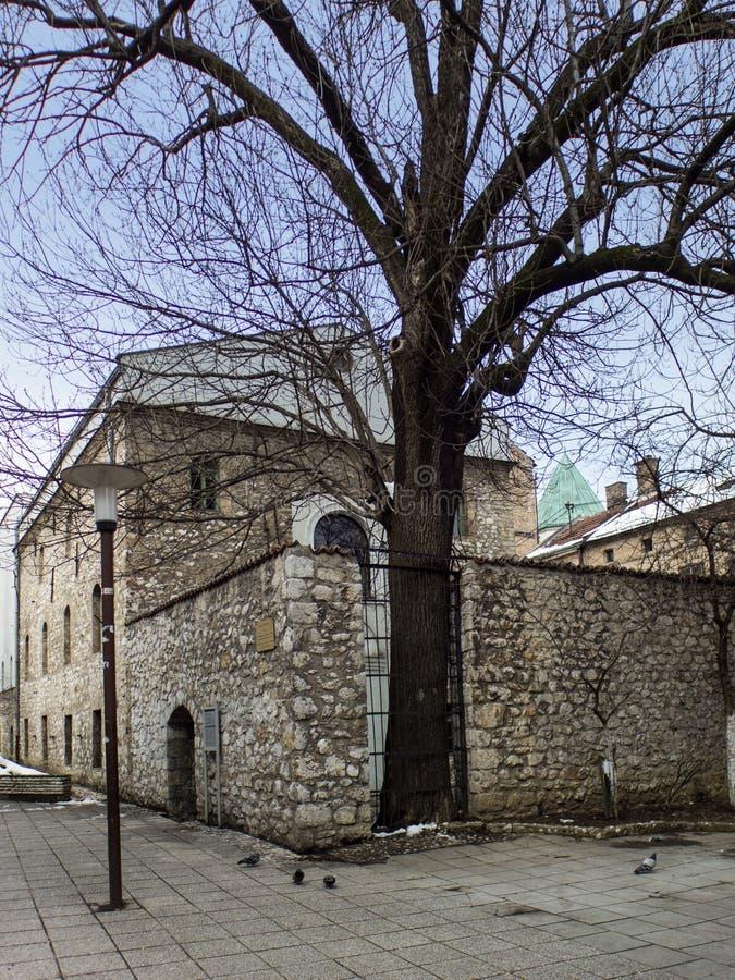 犹太教堂在萨拉热窝,波斯尼亚 图库摄影
