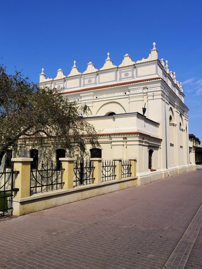 犹太教堂在Zamosc,波兰 库存图片