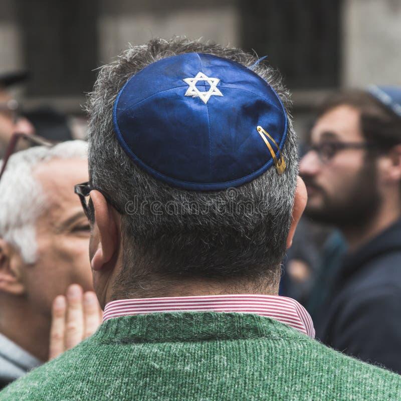 犹太旅团在解放天游行参与 库存照片