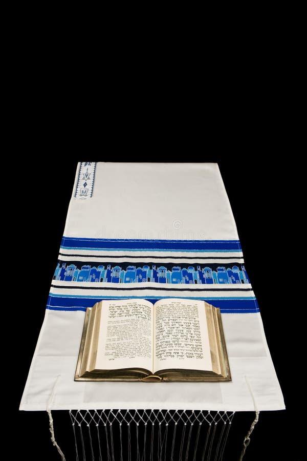 犹太晨祷披巾tallit 库存图片