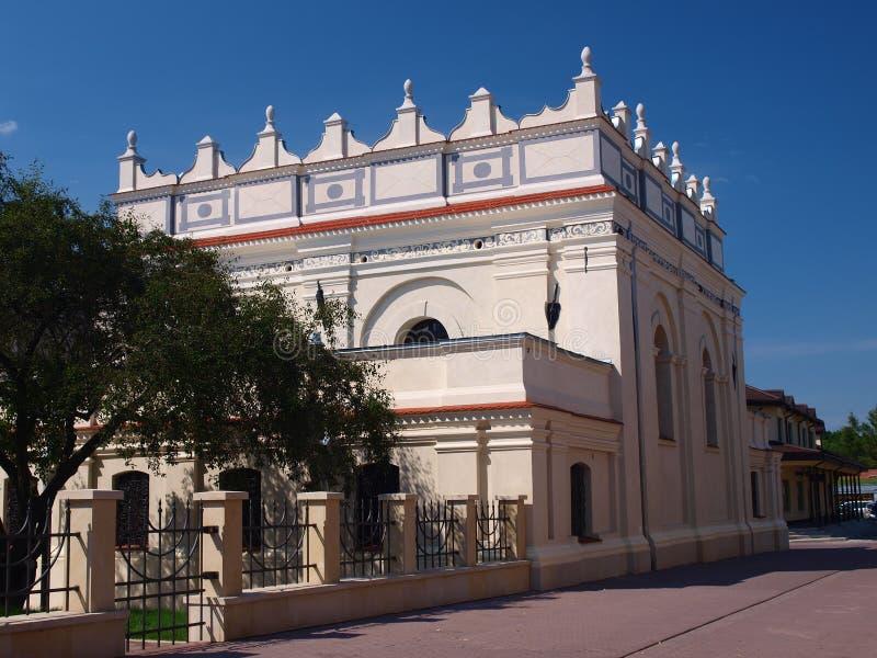 犹太波兰犹太教堂zamosc 库存图片