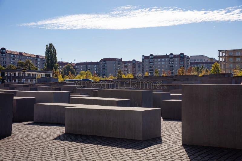 犹太浩劫纪念博物馆柏林,德国 库存照片