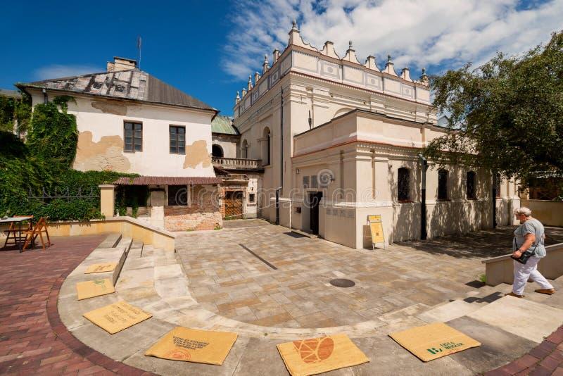 犹太犹太教堂在扎莫希奇 免版税库存照片