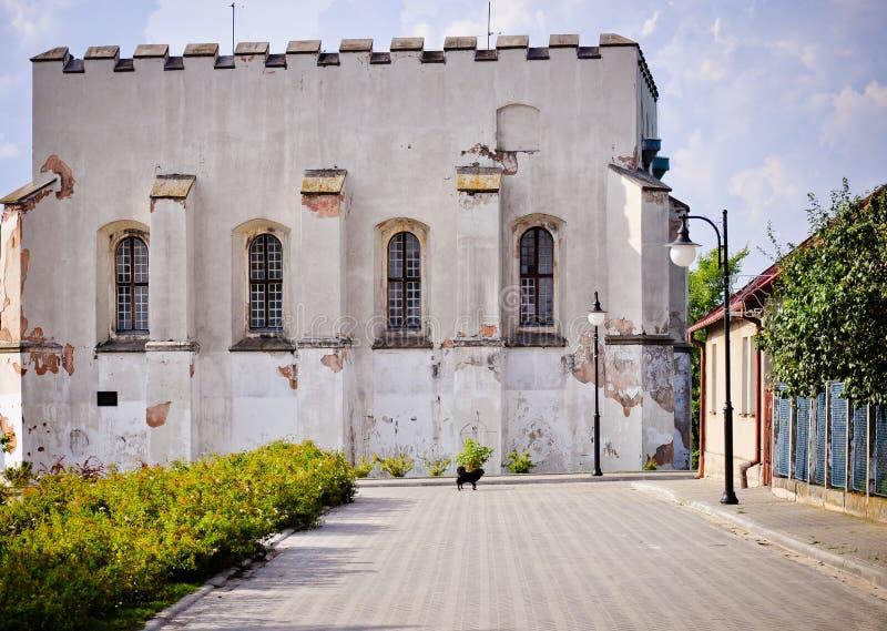 犹太犹太教堂在Szydlow,波兰 库存图片
