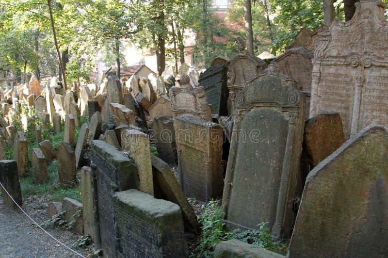 犹太的坟园 免版税库存照片