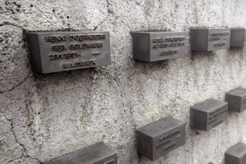 犹太纪念美因河畔法兰克福 库存照片