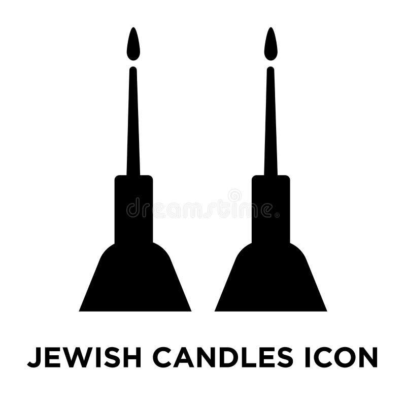 犹太蜡烛在白色背景隔绝的象传染媒介,商标co 皇族释放例证