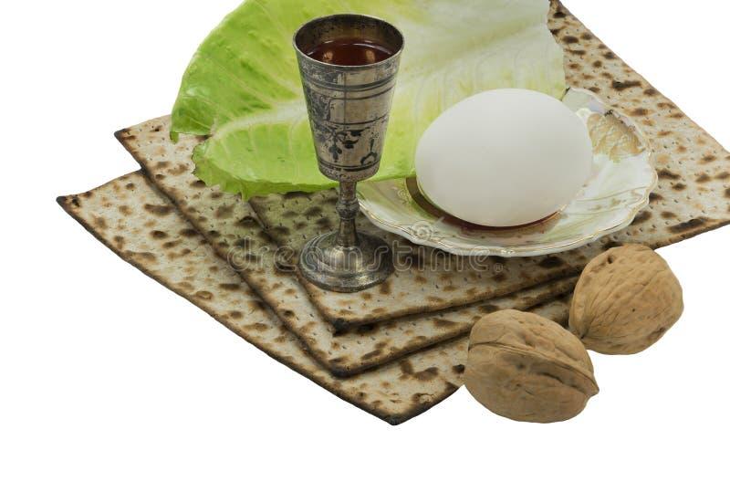 犹太逾越节假日传统食物  免版税库存照片