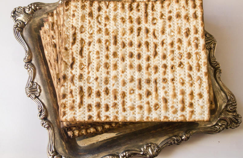 犹太逾越节matza 免版税库存图片
