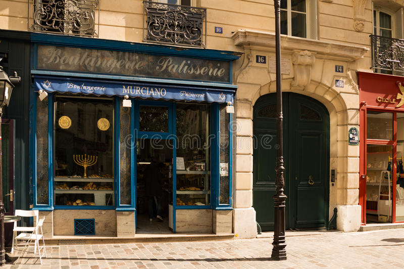 犹太面包店在巴黎 免版税库存图片