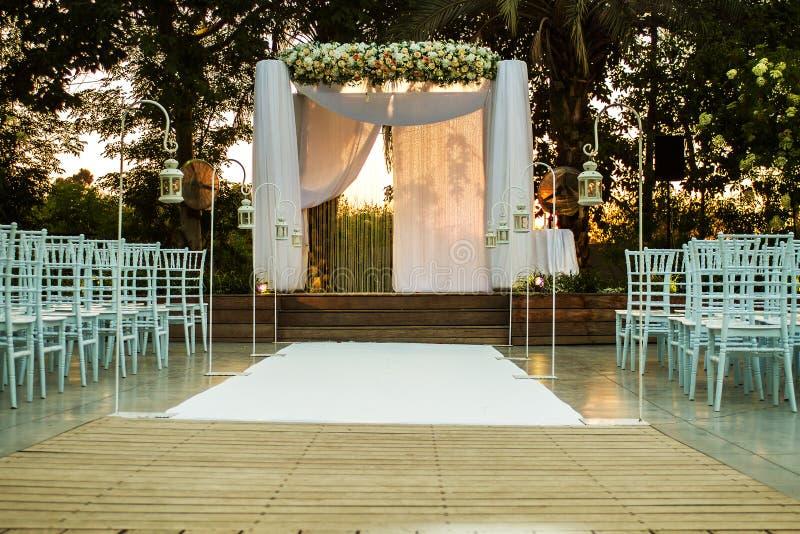 犹太Hupa,婚姻的putdoor 免版税库存图片