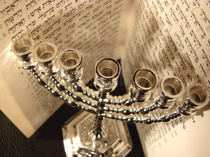 犹太menorah宗教符号 免版税库存照片