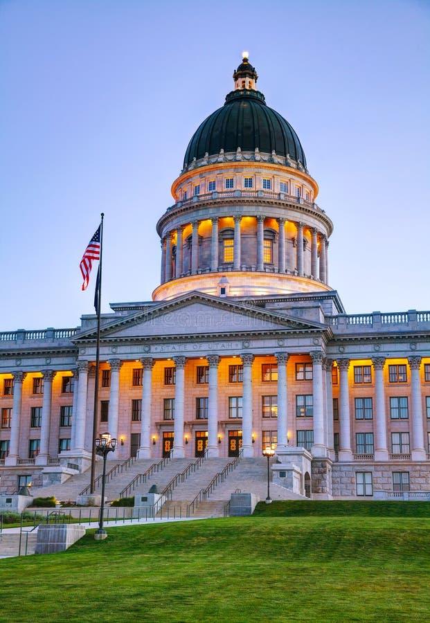 犹他状态国会大厦大厦在盐湖城 库存图片