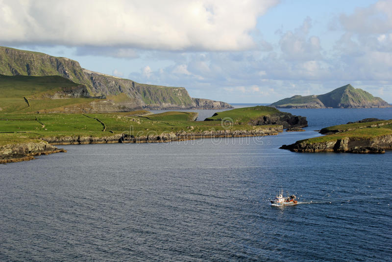 狂放的大西洋方式, Portmagee 免版税库存照片