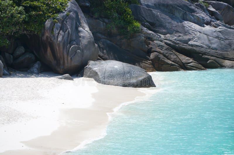 狂放的海岸Similan海岛 免版税库存照片
