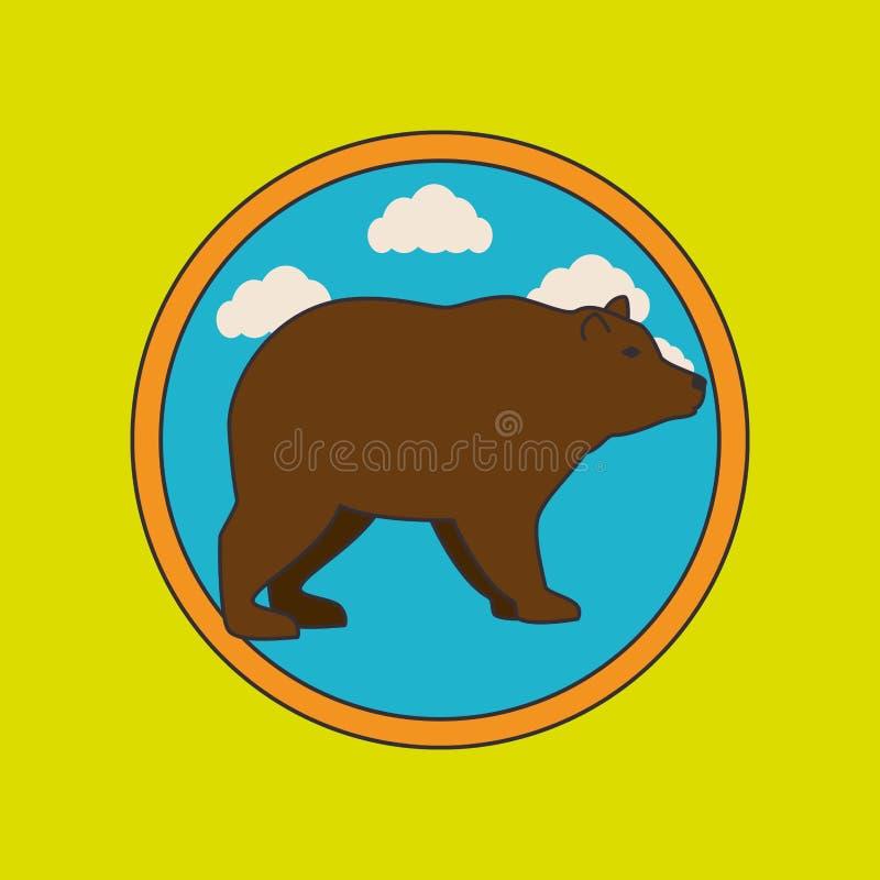 狂放的熊设计 库存例证