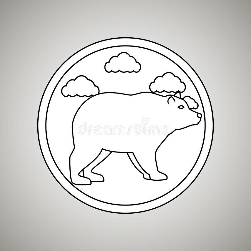 狂放的熊设计 向量例证