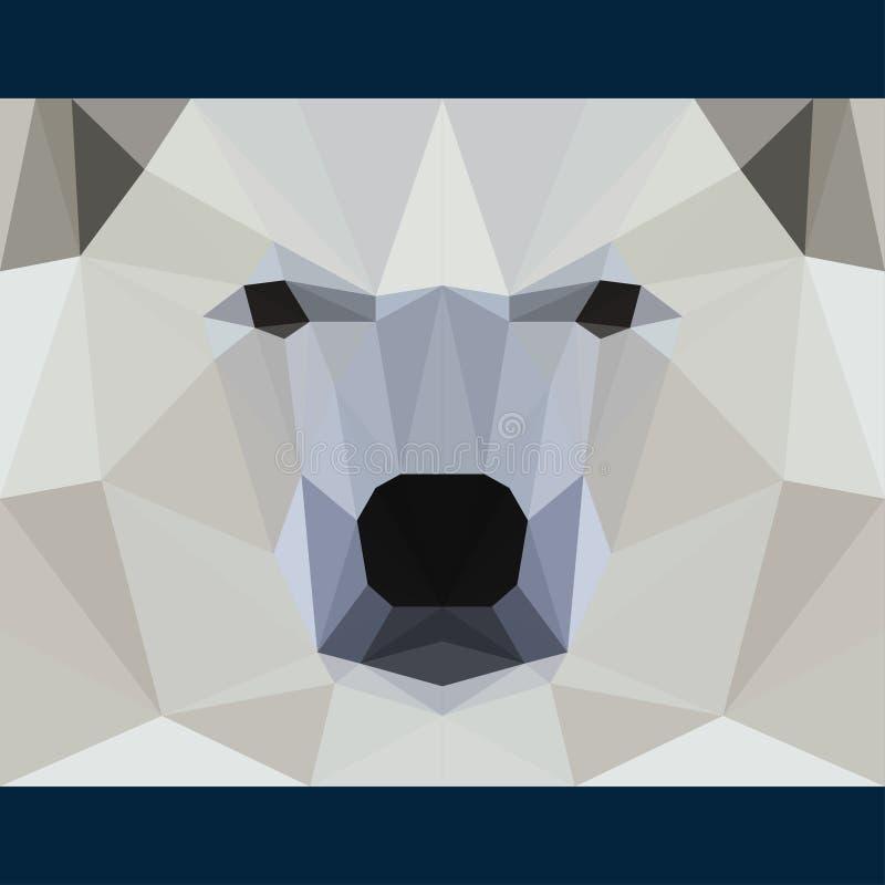狂放的熊今后凝视 自然和动物生命题材背景 抽象几何多角形三角例证 库存例证