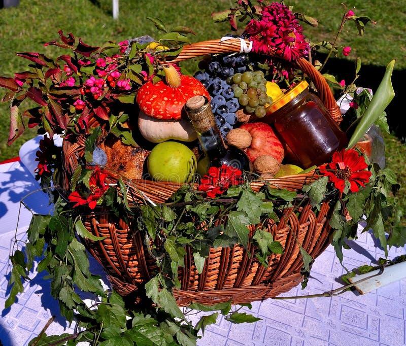 狂放的秋天蔬菜和水果 图库摄影