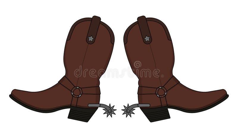 狂放的西部皮革牛仔靴 免版税库存图片