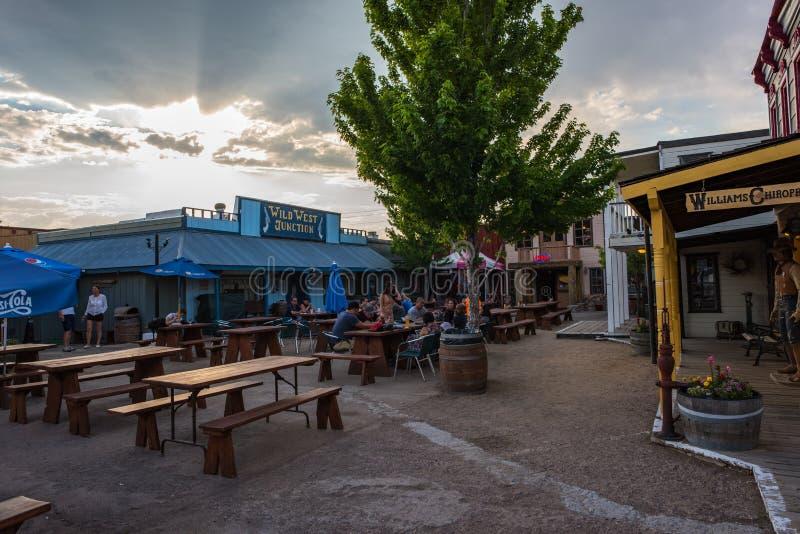 狂放的西部连接点在威廉斯,亚利桑那 图库摄影