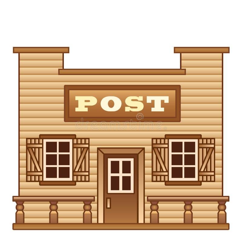 狂放的西部邮局 向量例证