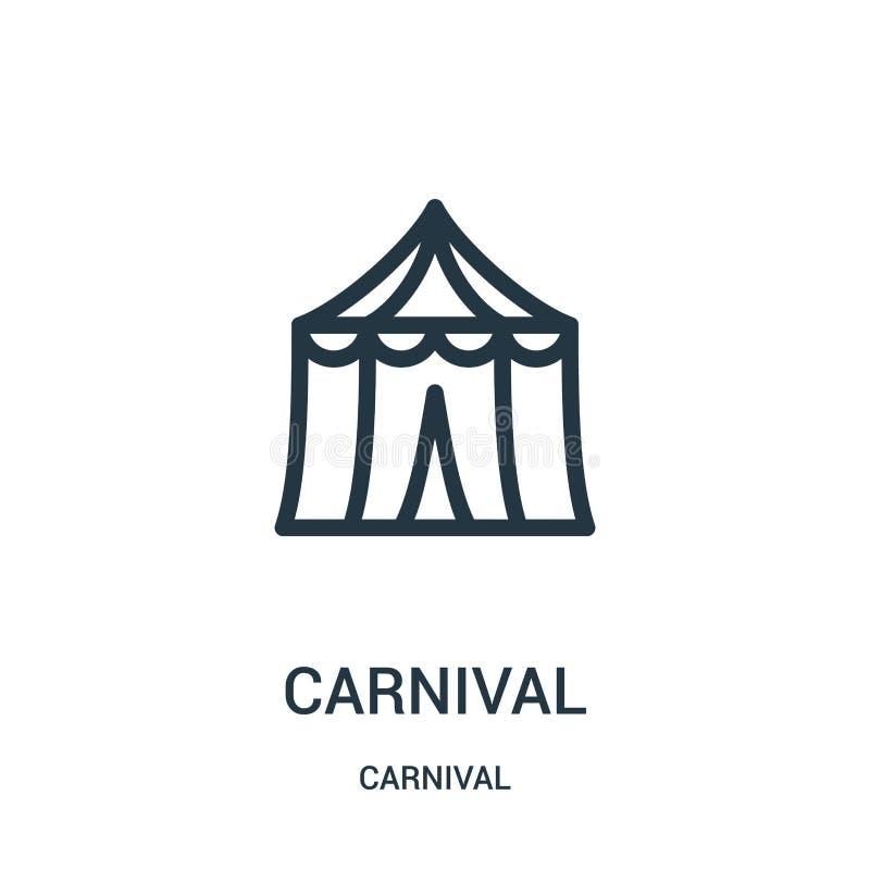 狂欢节从狂欢节汇集的象传染媒介 稀薄的线狂欢节概述象传染媒介例证 皇族释放例证