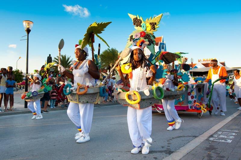 狂欢节在库拉索岛 库存图片
