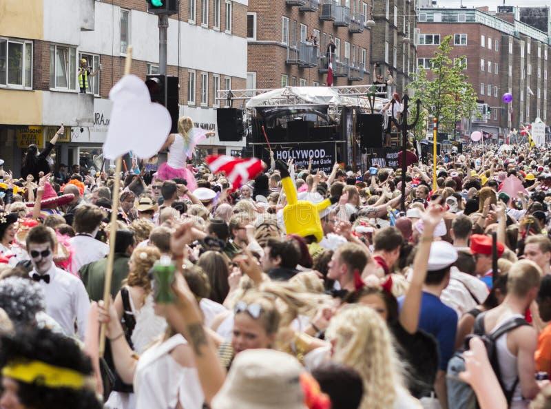 狂欢节在欧洲,丹麦,奥尔堡 库存图片