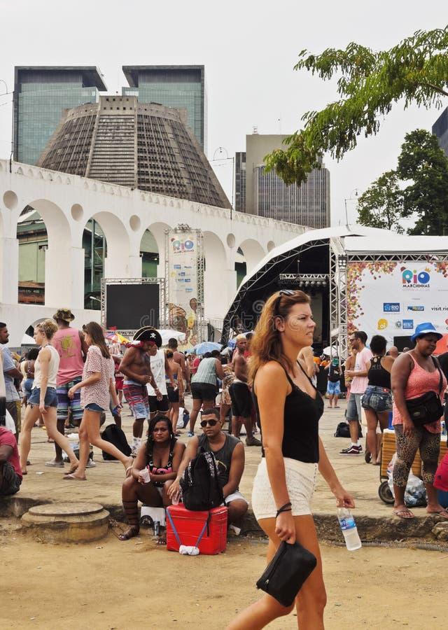 狂欢节在里约热内卢 库存照片