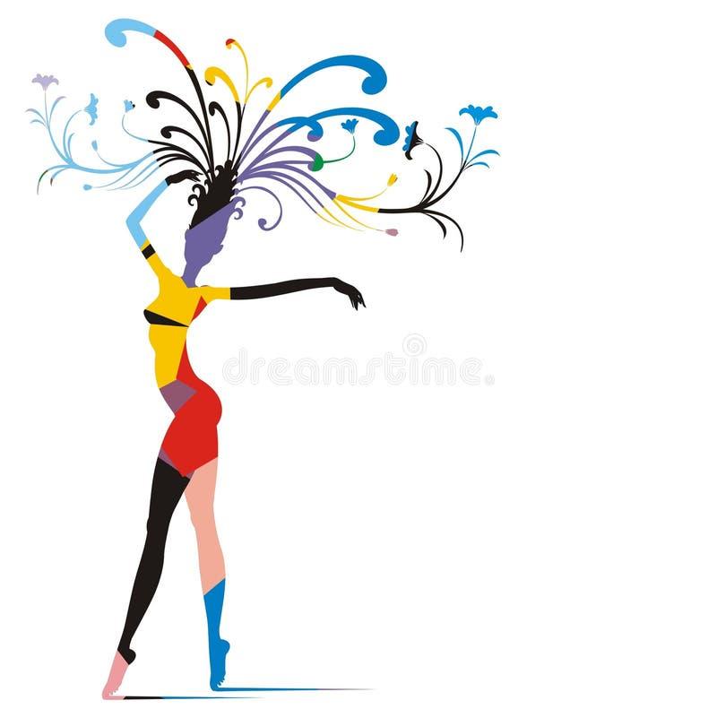 狂欢节妇女 向量例证