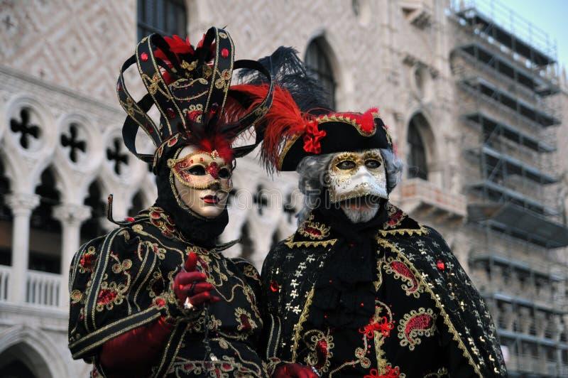 狂欢节屏蔽传统威尼斯 库存照片