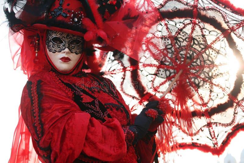 狂欢节屏蔽威尼斯 免版税库存照片