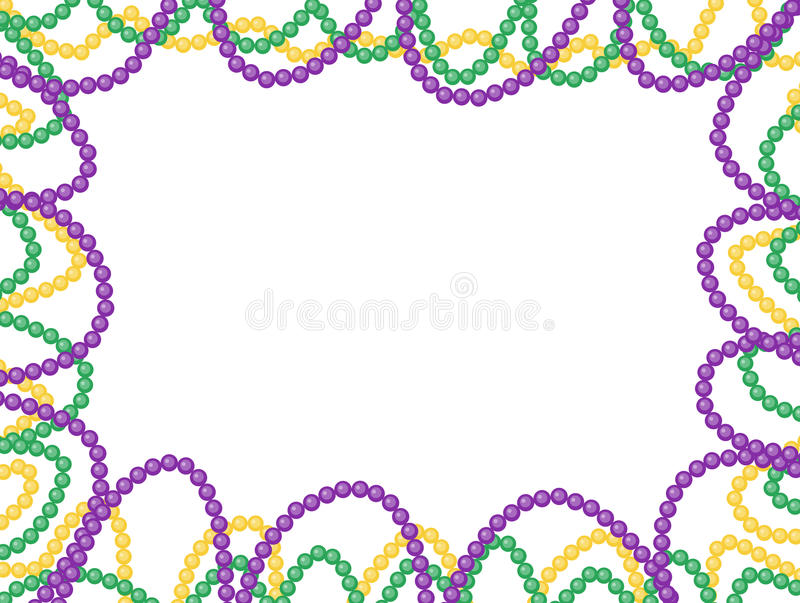 狂欢节成串珠状框架,隔绝在白色背景 库存例证