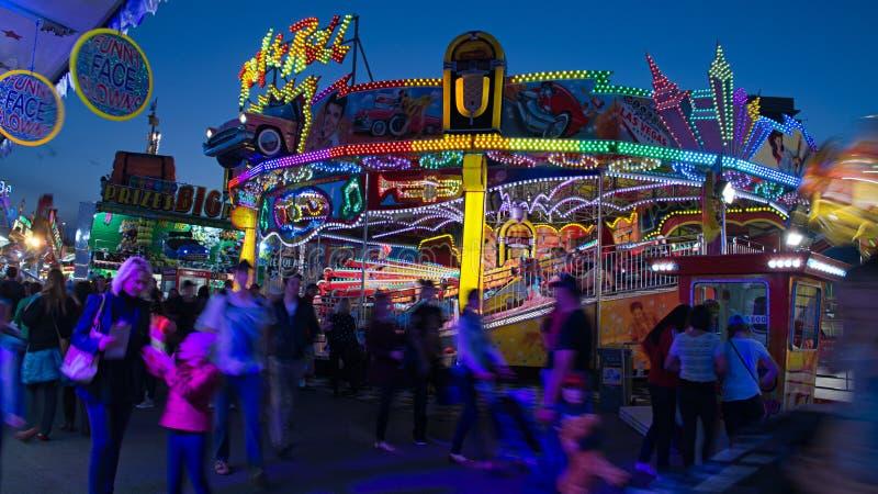 狂欢节或娱乐乘驾 库存图片