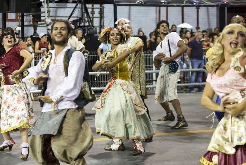 狂欢节桑巴舞蹈家巴西 图库摄影