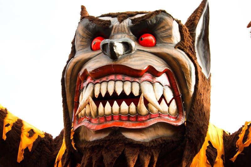 狂欢节浮动狼 免版税库存图片