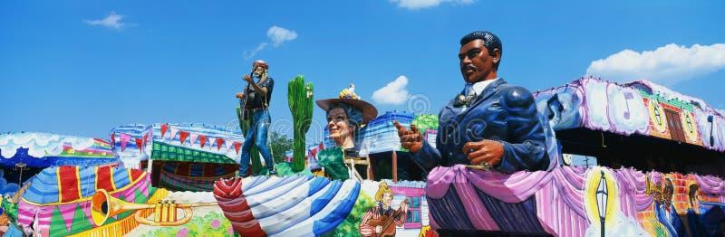 狂欢节游行在新奥尔良 免版税库存图片