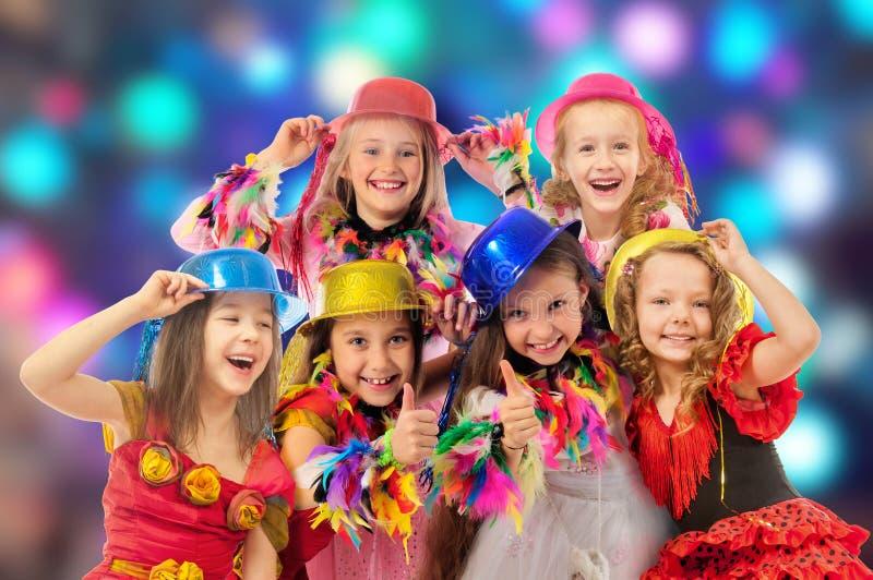狂欢节的愉快的孩子 免版税库存图片
