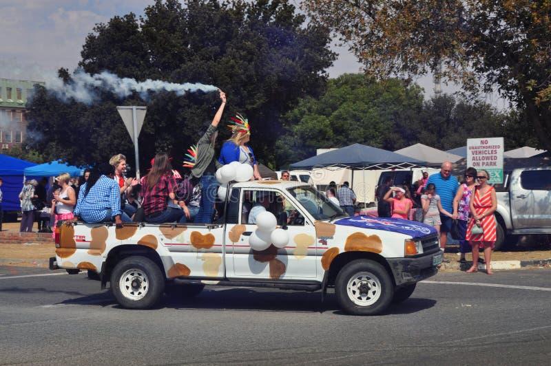 狂欢节精神在晴朗的南非 免版税库存照片