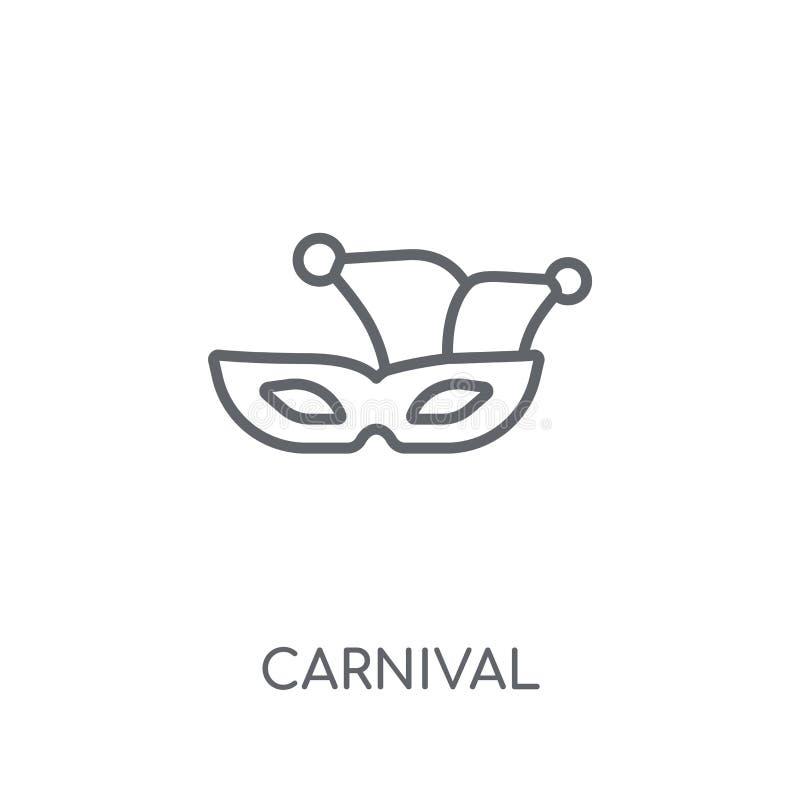 狂欢节线性象 在wh的现代概述狂欢节商标概念 向量例证