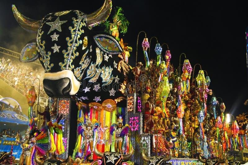 狂欢节里约热内卢- FEBRUARY20 : 免版税库存图片