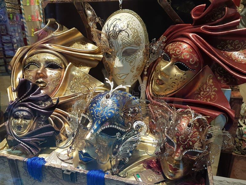 狂欢节面具在威尼斯 免版税库存照片